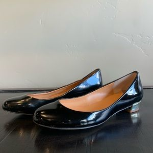 J. Crew Black and Gold Heels Size 6